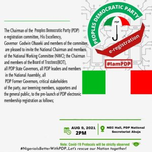 Pre-Launch of the PDP Electronic Membership Registration-